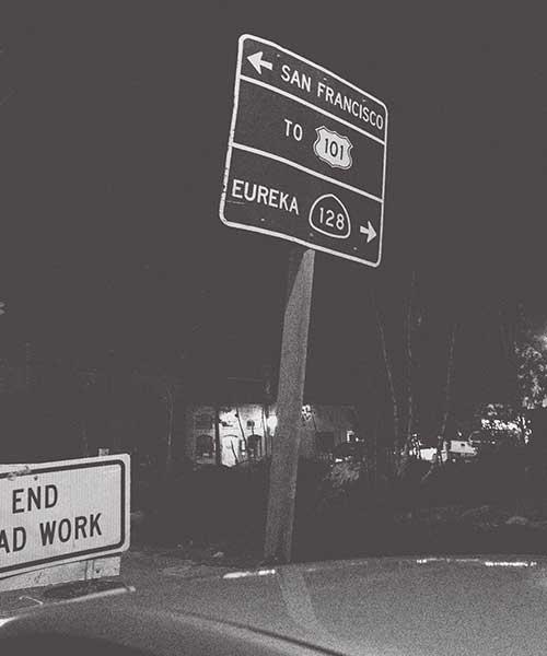Geyserville Highway Exit